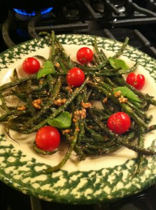 Lightly Fried French Beans with Toasted Sesame