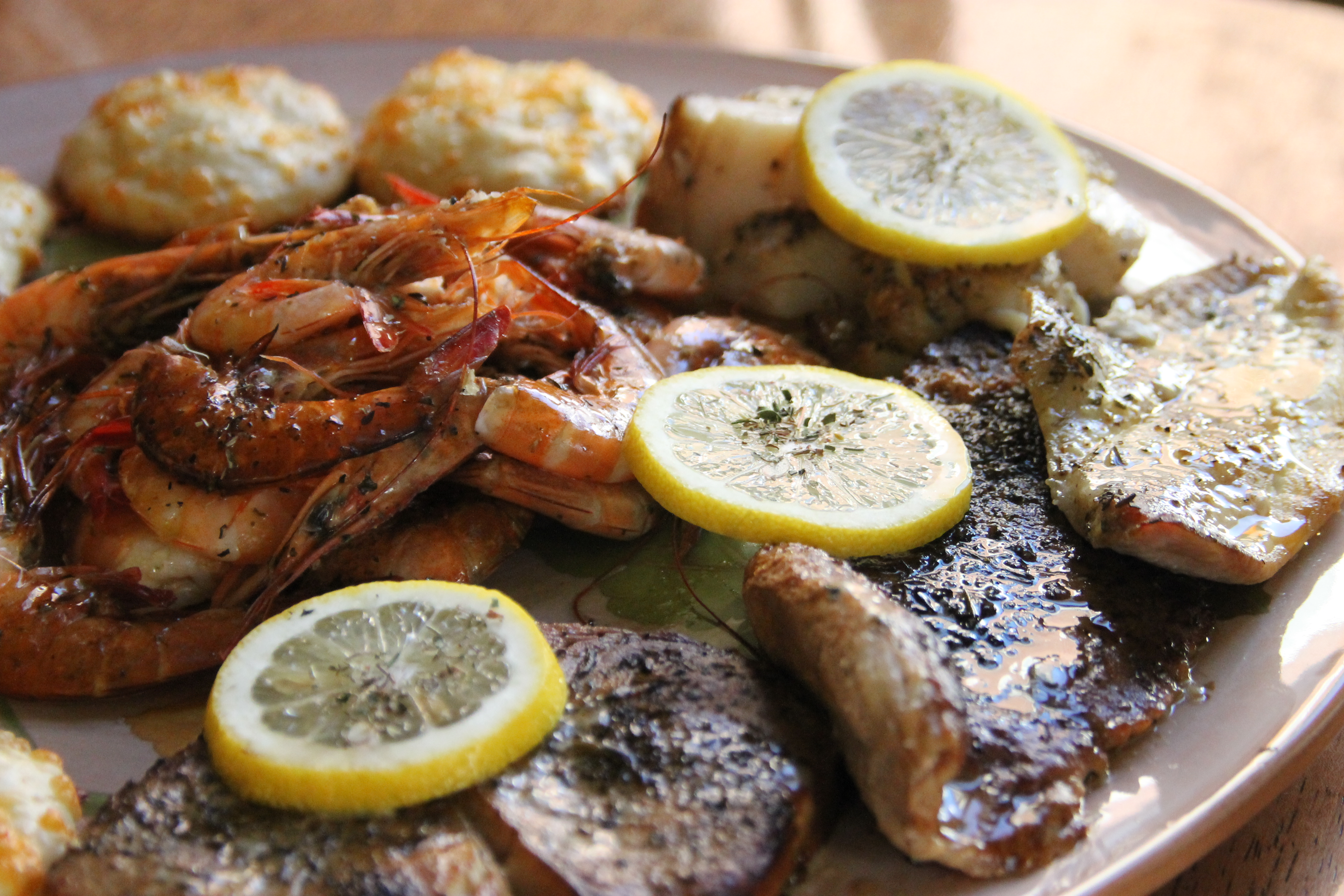 Swordfish, Georges Bank Scallops, Yellow Tail, Atlantic Snapper, Skate and Day Boat Shrimp