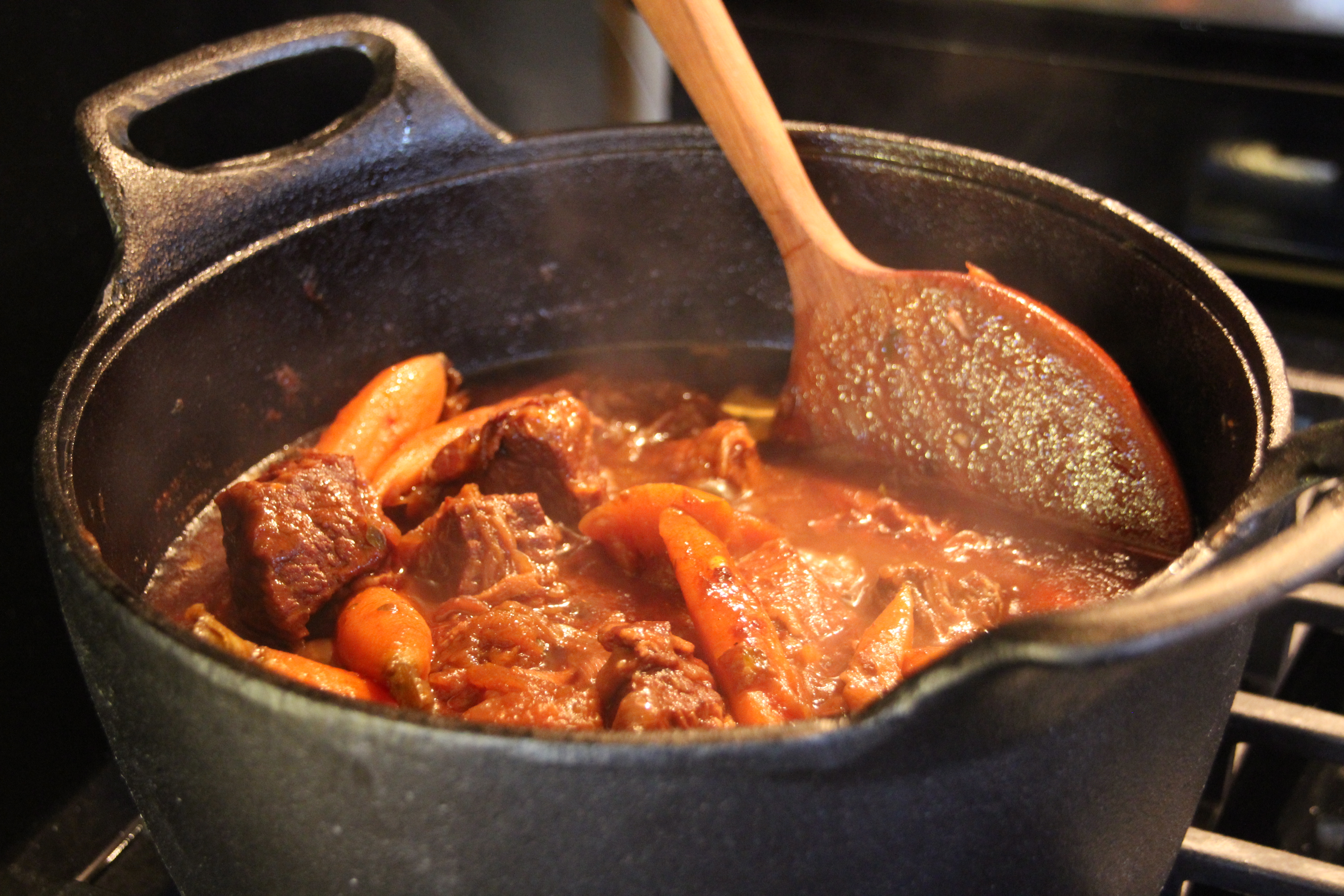 Braised beef with carrot and pumpkin