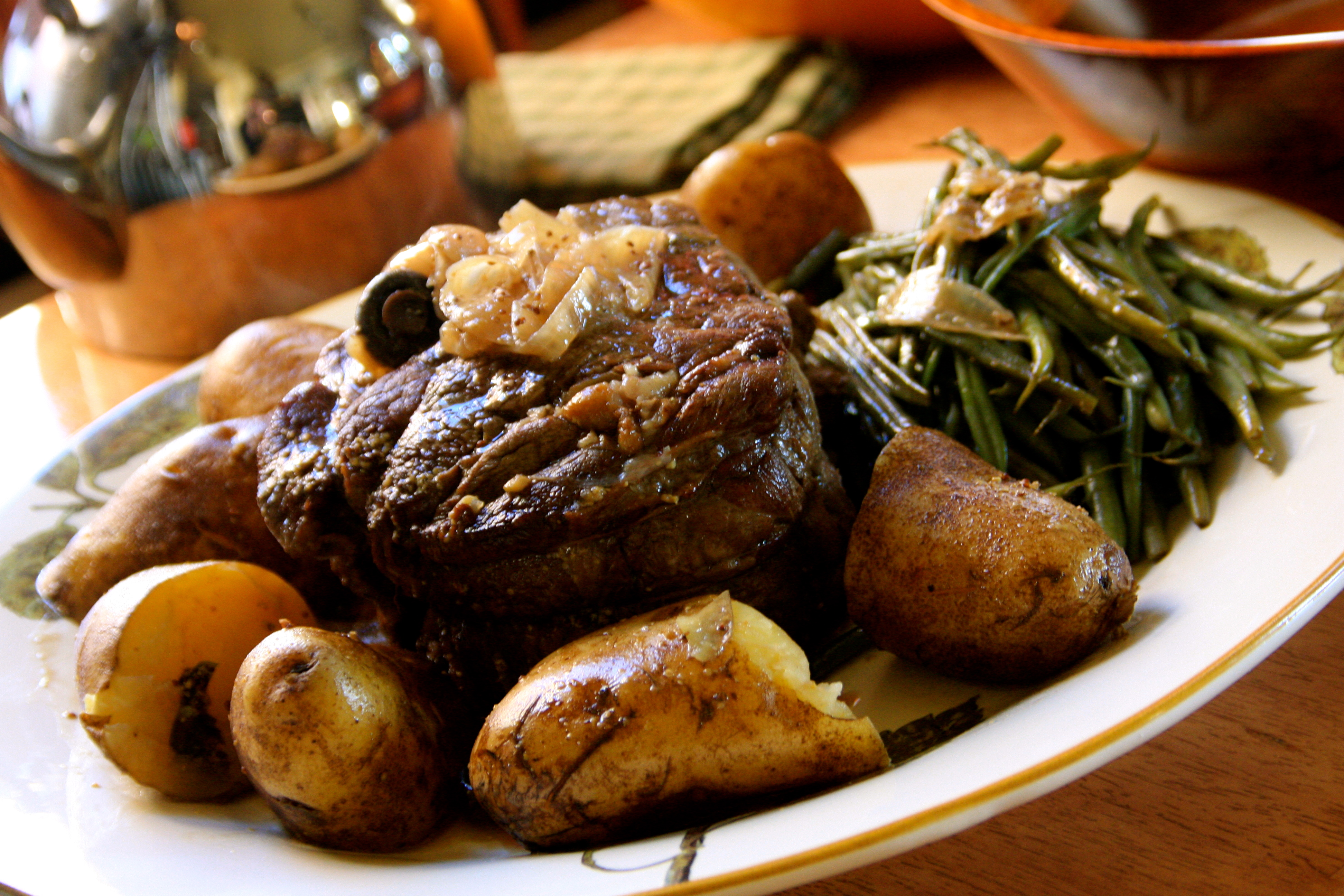Roasted Beef with Whole Grain Mustard