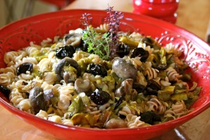 Pasta with Leeks and Mushrooms