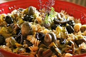 Pasta with Leeks and Mushrooms