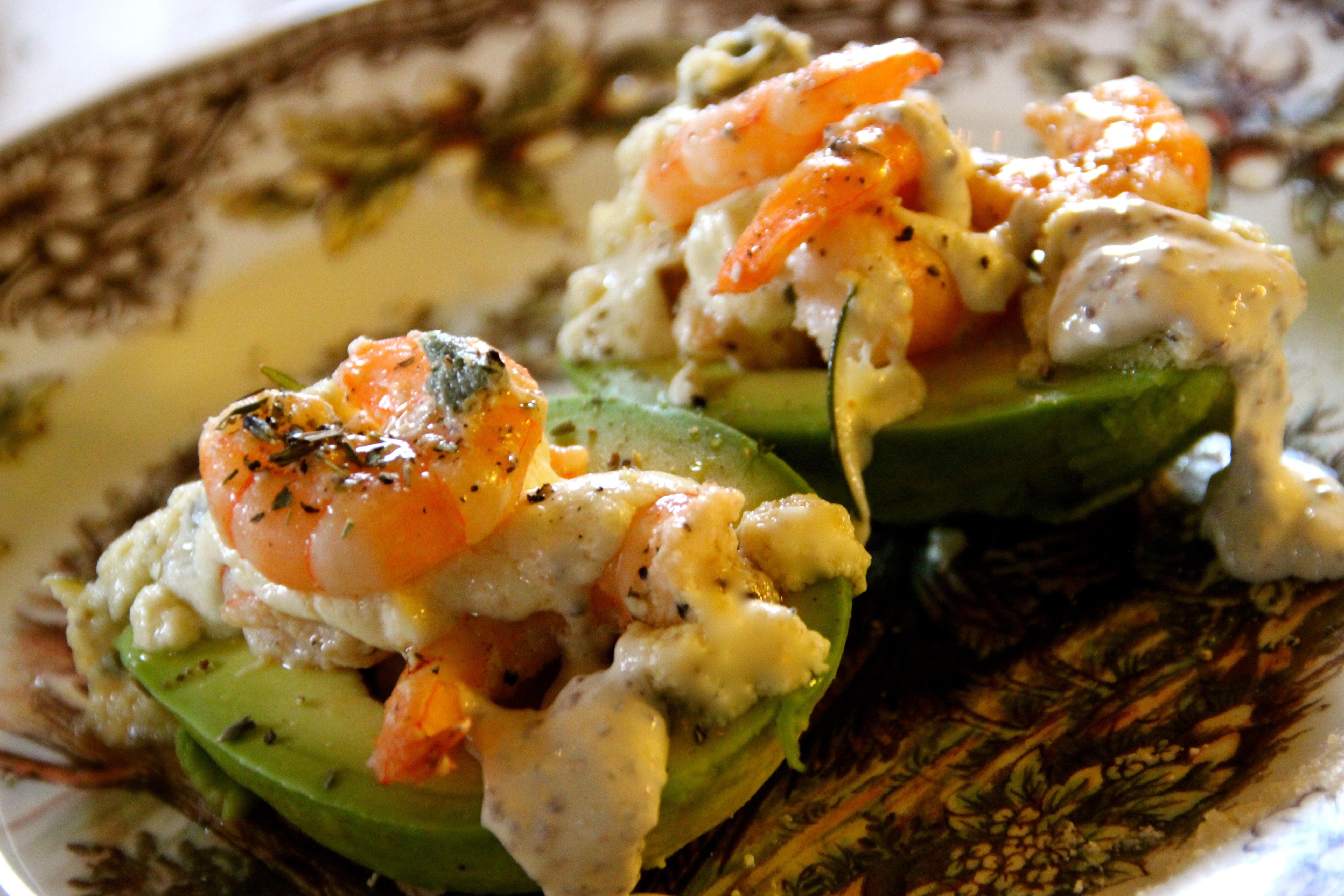 avocado, easy summer recipe, vegetarian, mustard sauce, cram sauce