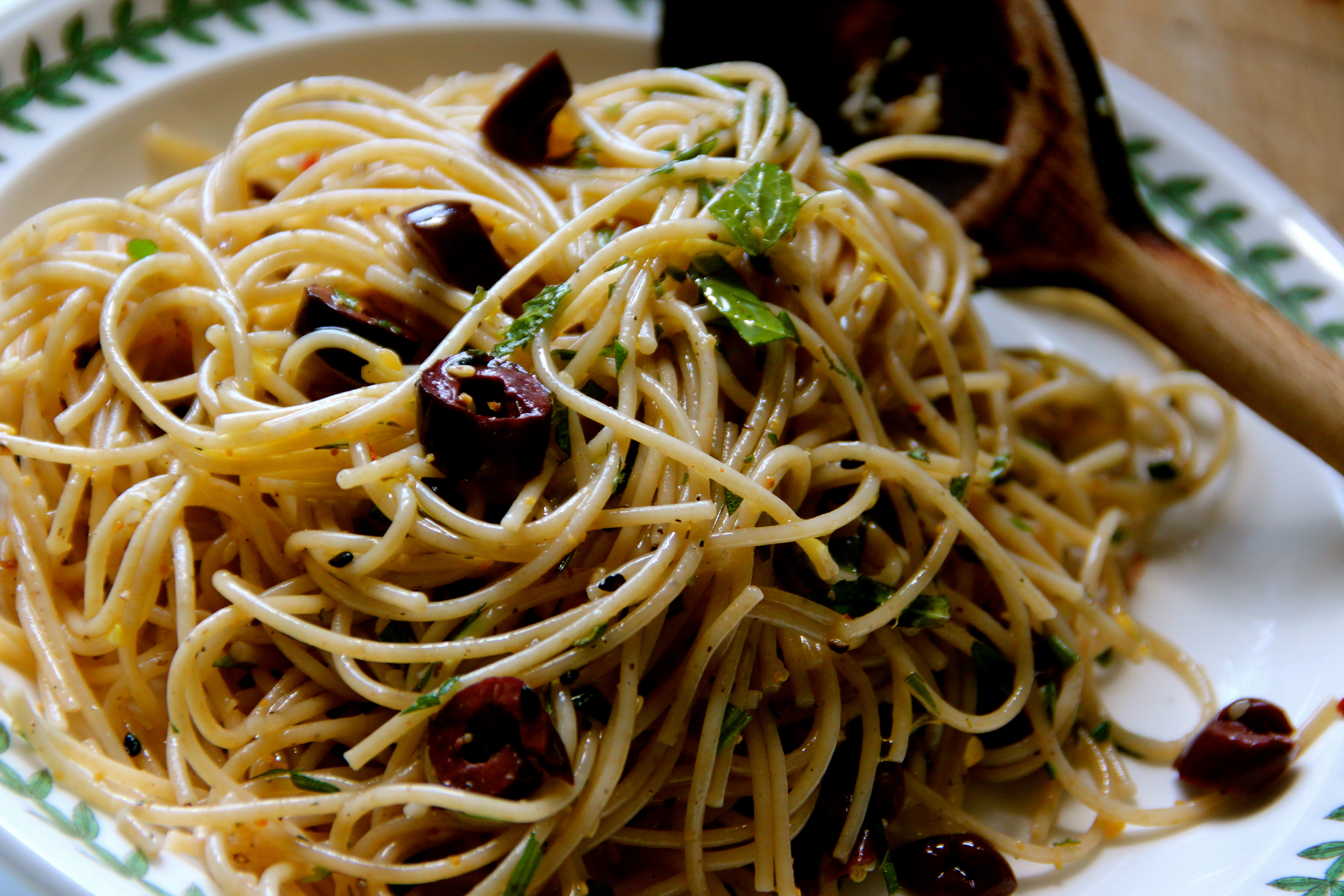 Pasta, truffle oil, french ,olives, herbs, French cuisine, pasta