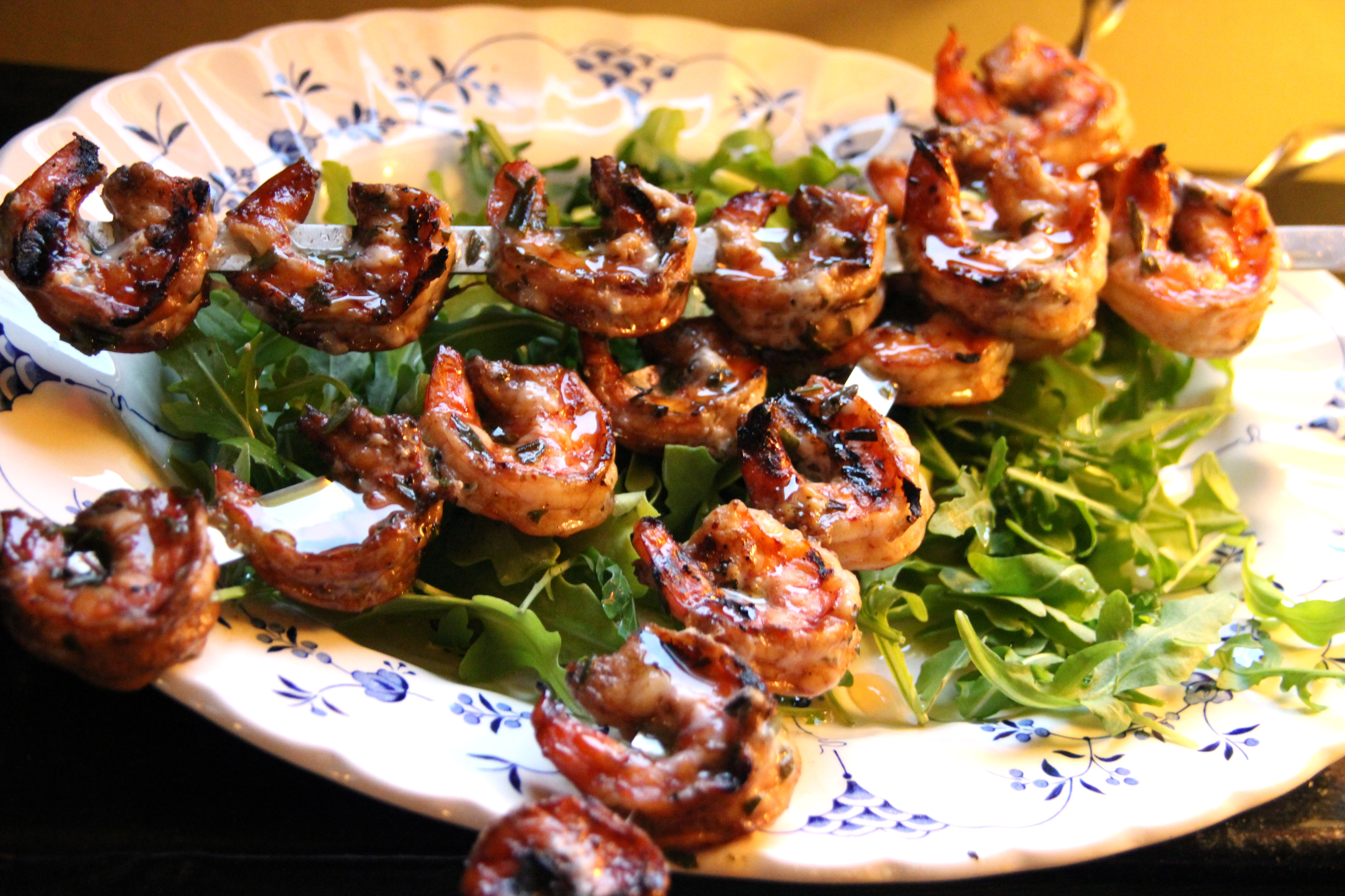 Grilled Rosemary Shrimp French cuisine