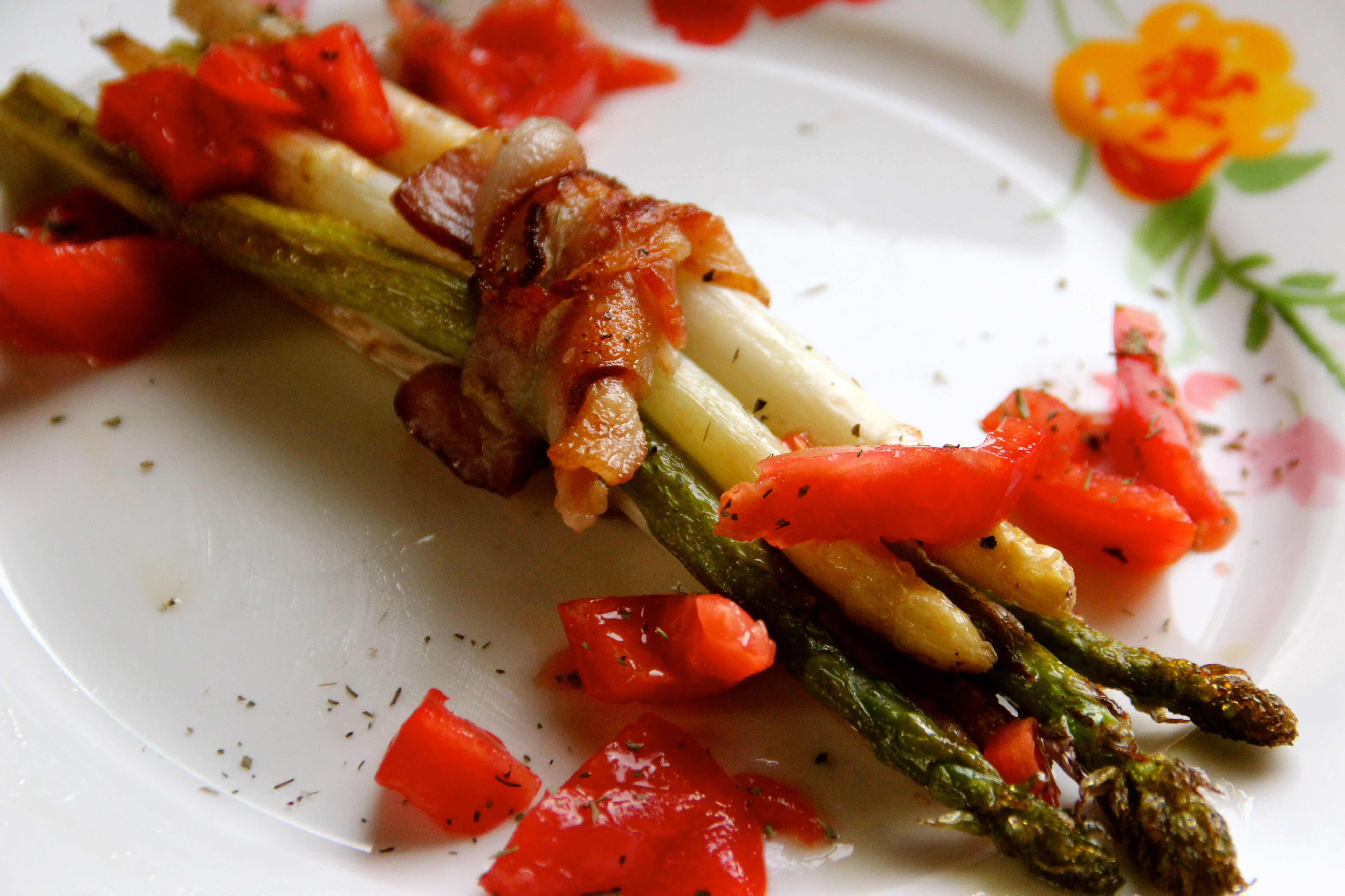 Asparagus with bacon French cuisine easy recipe