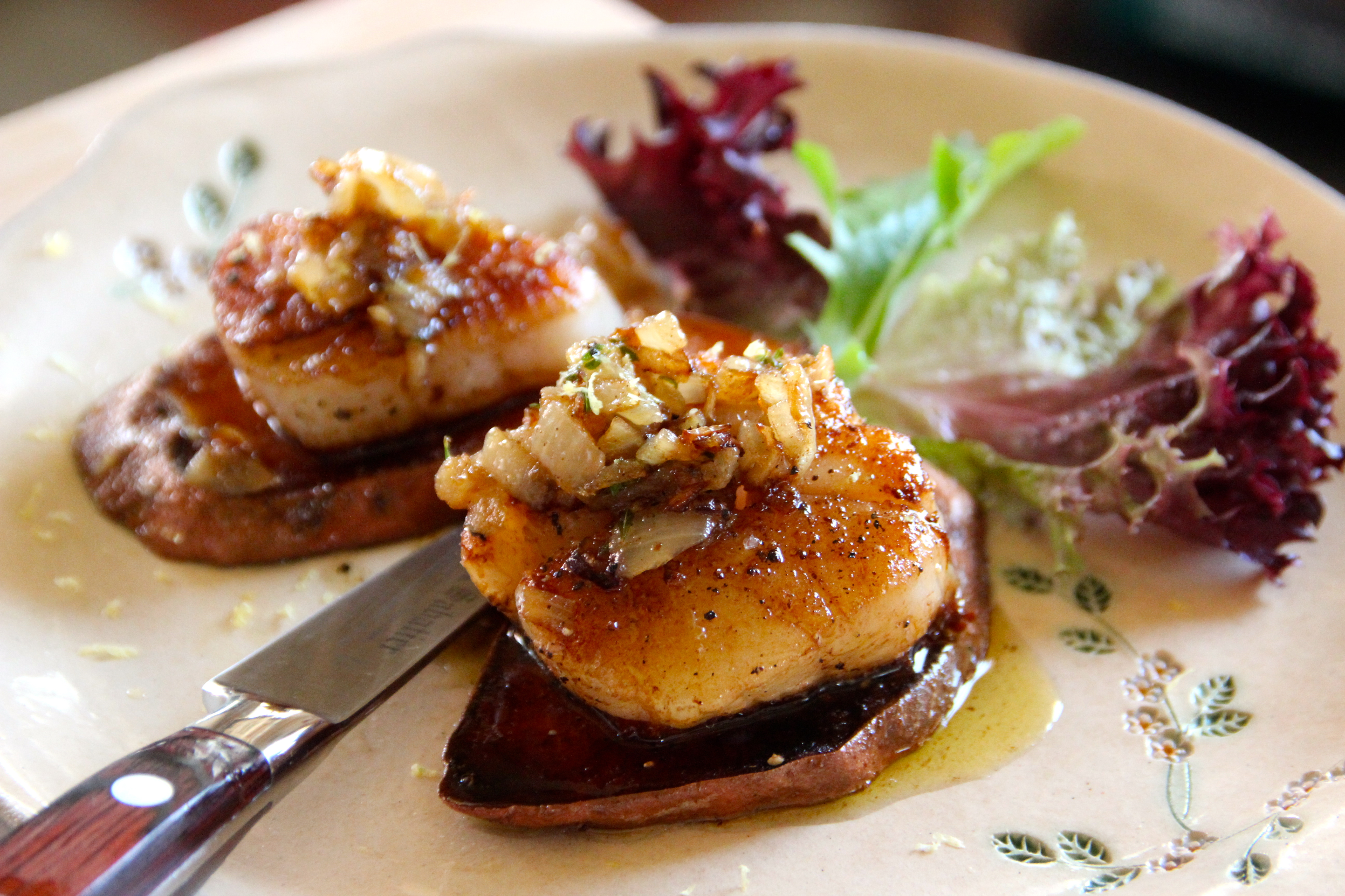 Scallops Sweet Potatoes French cuisine