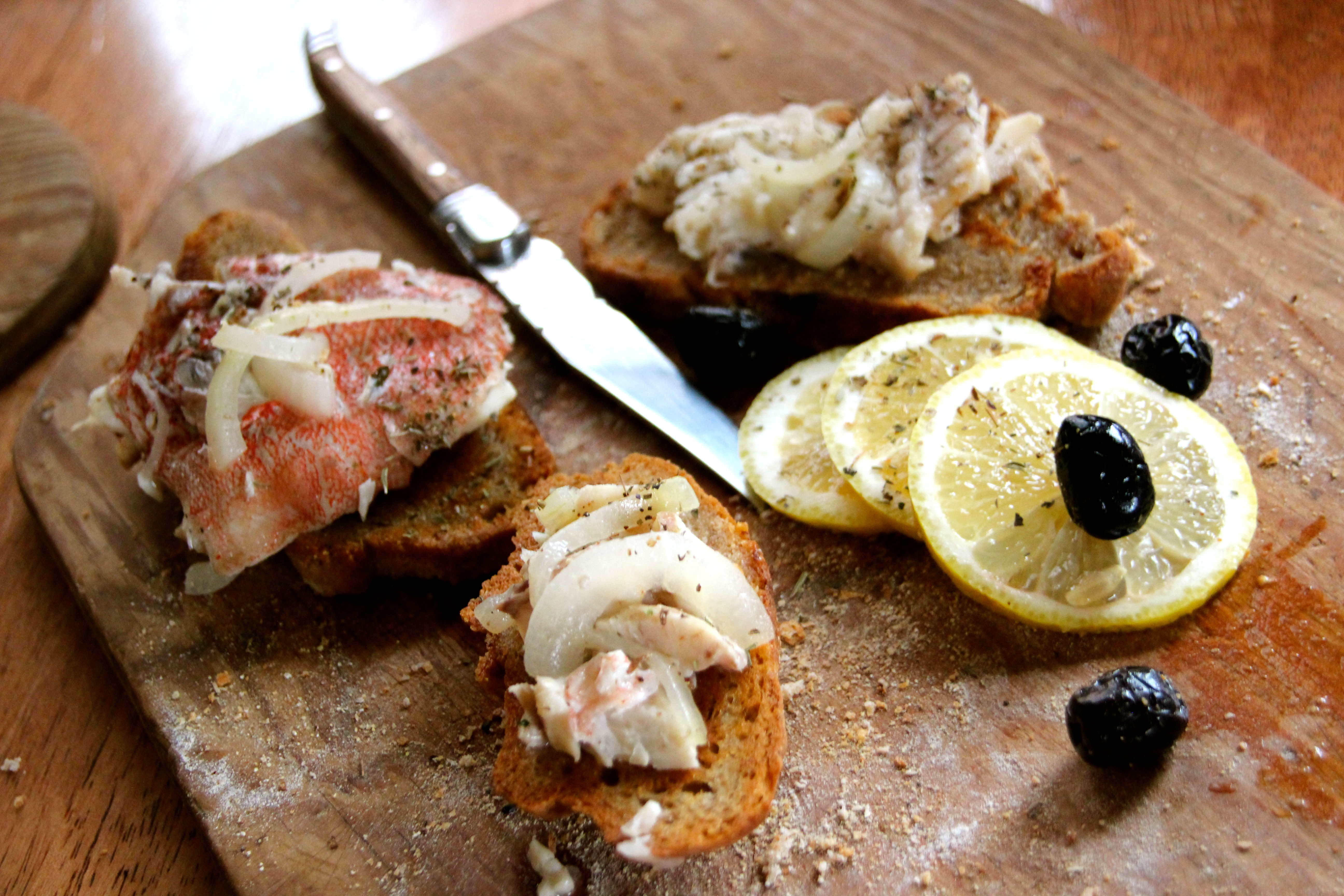 Red Fish White Wine seafood easy recipe French bread