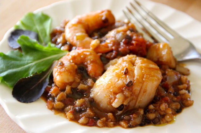 Scallop and Shrimp Bernier