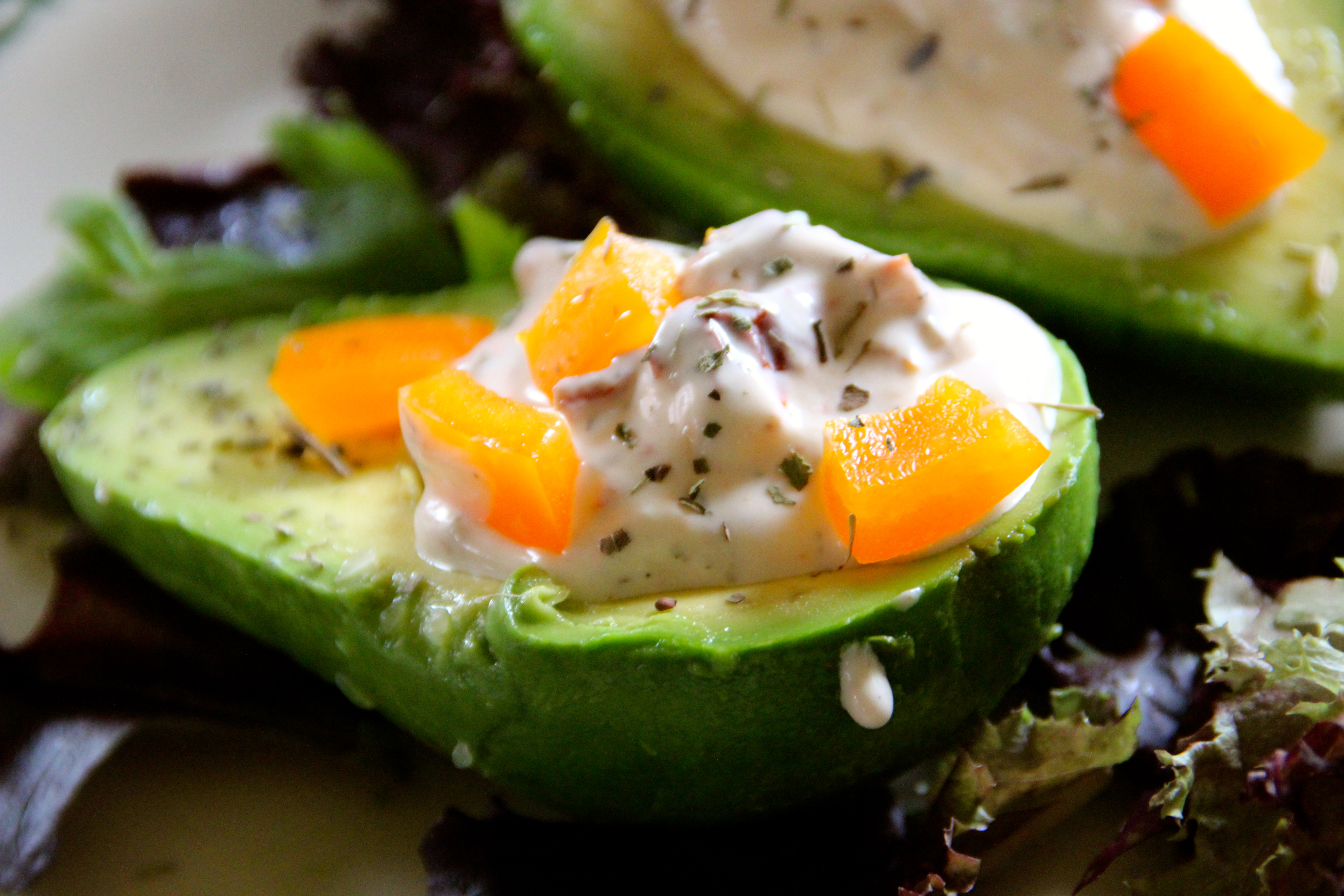 avocado, cream sauce, easy recipe, French, French recipe, appetizer , sun dried tomato