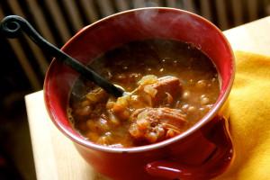 Soupe a L'Oignon et Porc