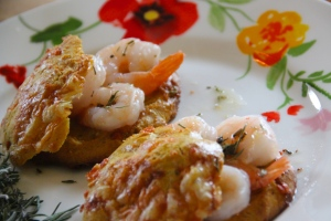 Gougères with Shrimp